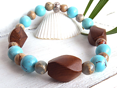 woodbeads series*TURQUOISE* ターコイズ